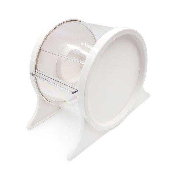 biały stojak nafolię ochronną domakijażu permanentnego