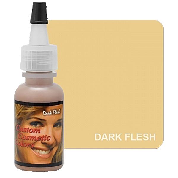 cielisty ciemny pigment dokamuflażu makijażu permanentnego, ciemna karnacja