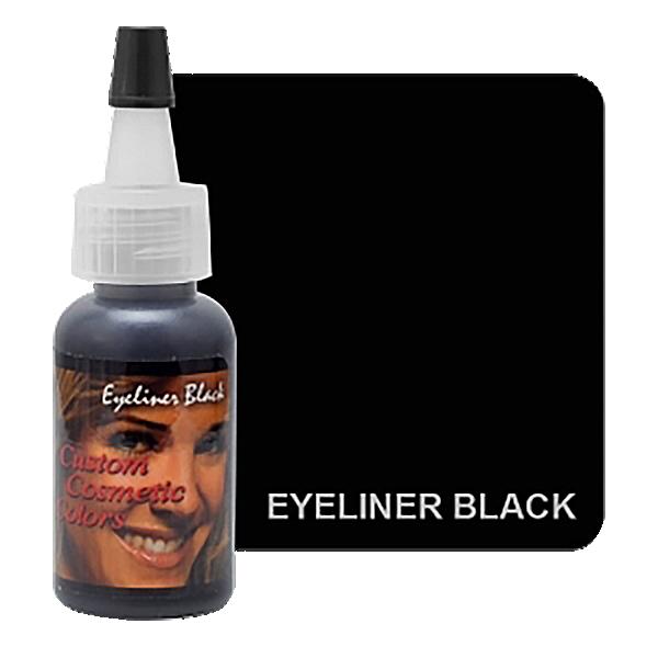 czarny barwnik dokresek domakijażu permanentnego wbutelce z twarzą kobiety