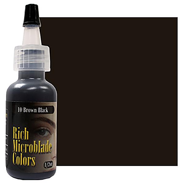 pigment domicrobladingu wbutelce brązowo czarny ciemny barwnik dometody piórkowej