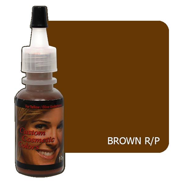 butelka z głową kobiety z pigmentem brązowym dla skór czerwonych iróżowych