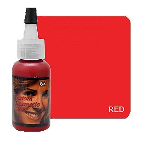 czerwony barwnik domakijażu permanentnego ust z usa wbutelce z czarna zakrętką