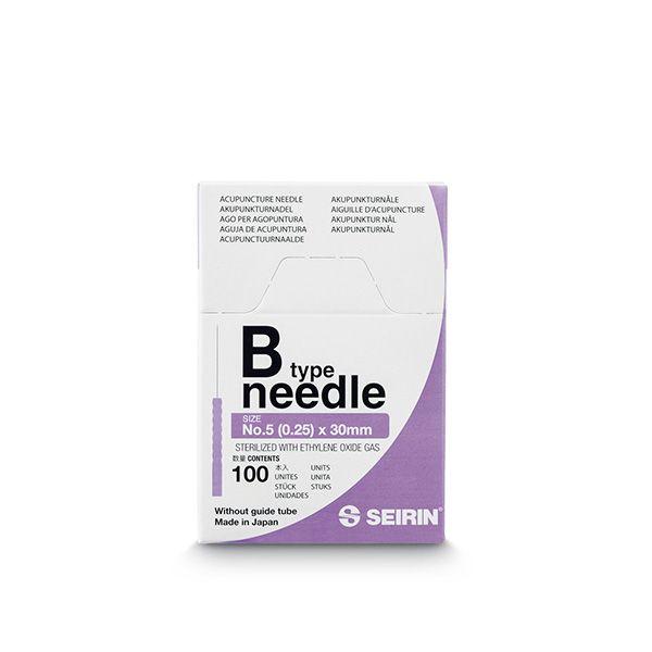 pudełko igły akupunkturowej fioletowe firmy seirin typ B