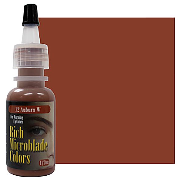 pigment domicrobladingu wbutelce kasztanowy, popularny dla rudych kobiet