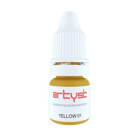 żółty pigment korygujący domakijażu permanentnego