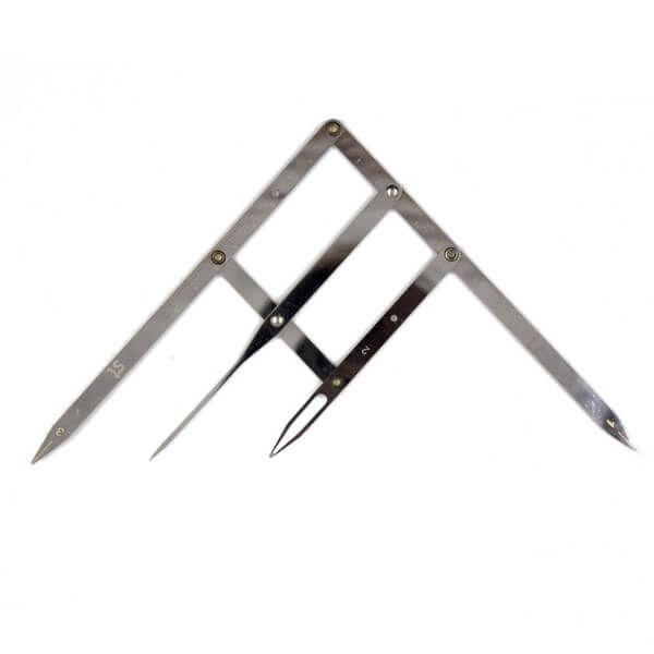 cyrkiel doodmierzania złotego podziału symetrii brwi, metalowy