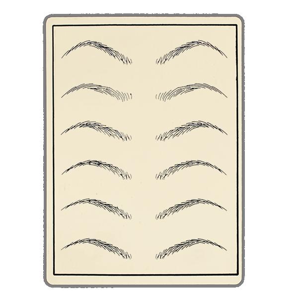 guma, imitacja skóry donauki mikropigmentacji brwi