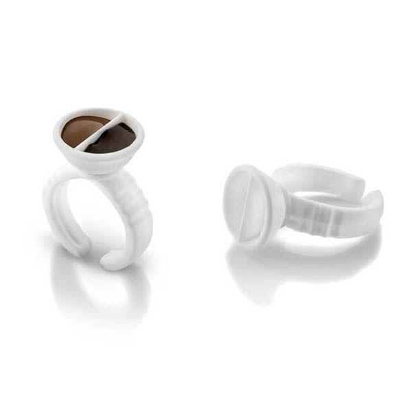 malutki pierścionek nabarwnik domakijału permanentnego biały dzielony