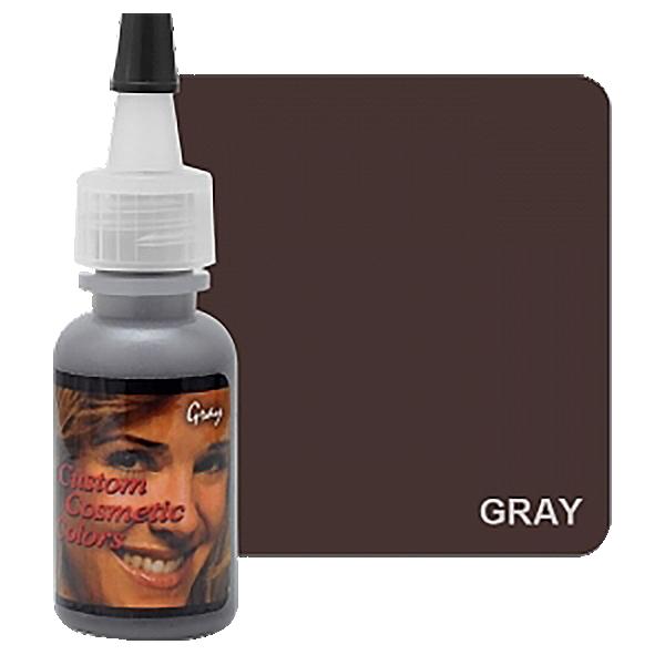 szary barwnik domakijażu permanentnego, gray, custom cosmetic colors.