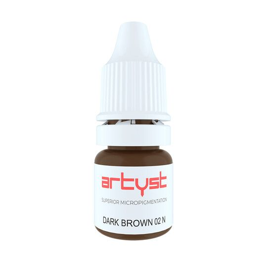 ciemny brąz neutralny pigment domakijażu permanentnego brwi