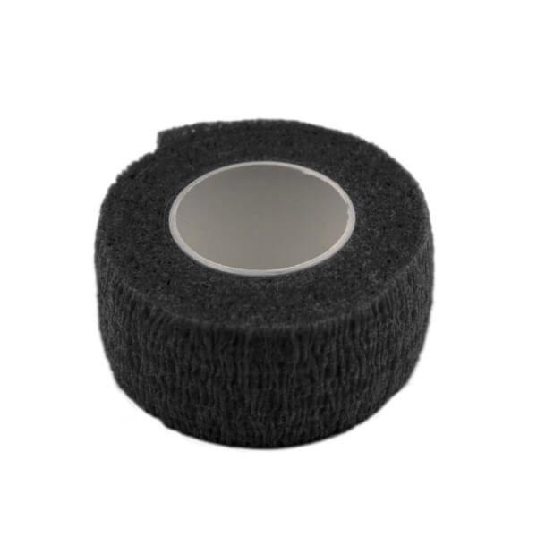 czarny bantaż elastyczny rozciągliwy domakijażu permanentnego