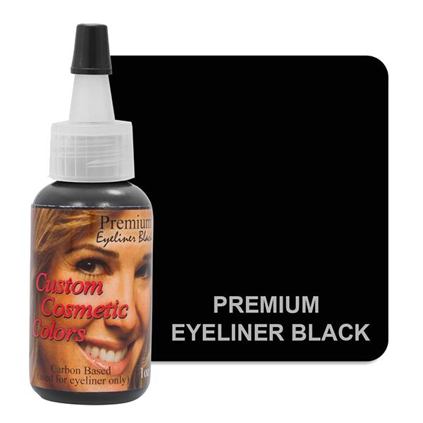 kruczo czarny węglowy barwnik dokresek domakijażu permanentnego bardzo intensywny