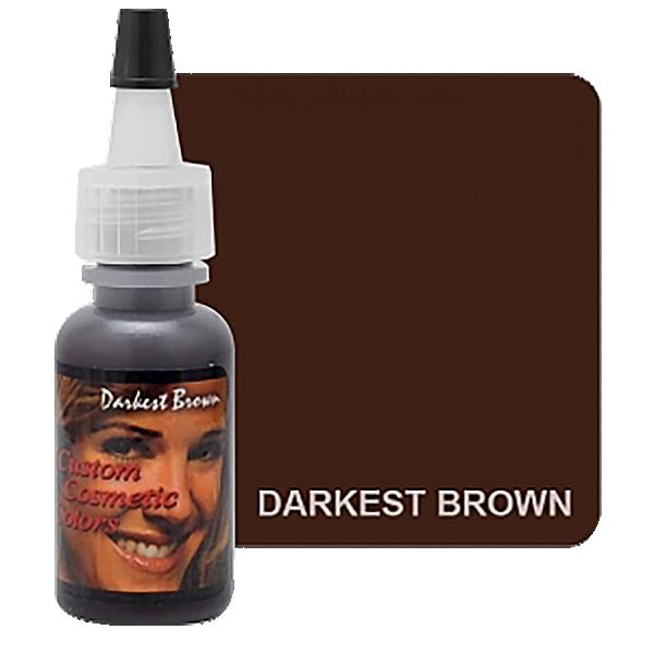 ciemny brązowy pigment domakijażu permanentnego brwi wbutelce z dziubkiem