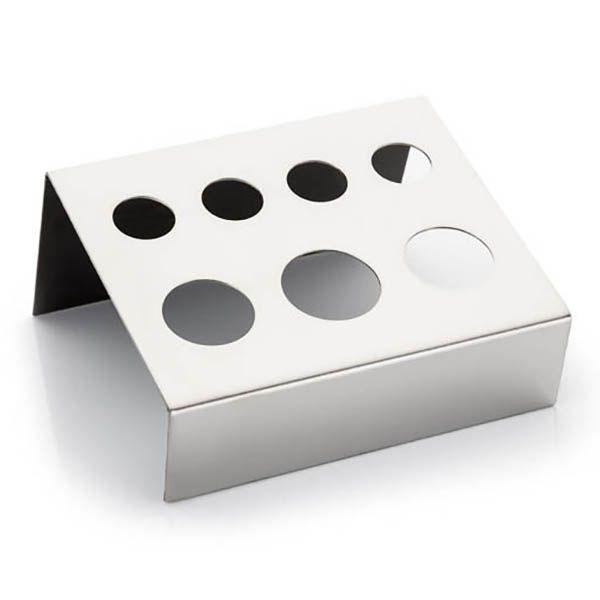 srebrna mała podstawka nakubeczki z pigmentem domakijażu permanentnego, ładna ipraktyczna