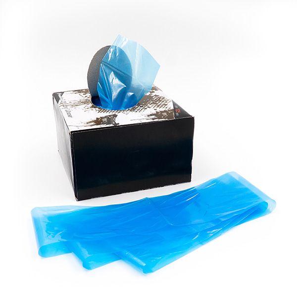 niebieskie foliowe rękawy doochrony kabla dourządzenia