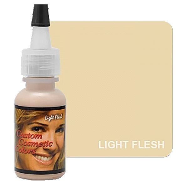 jasny cielisty pigment dokamuflażu makijażu permanentnego, jasna karnacja