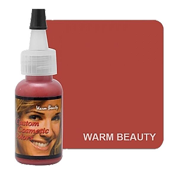 ciepły, jasnobrązowy barwnik domakijażu permanentnego ust