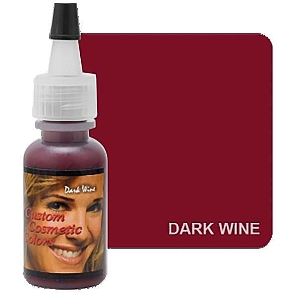 barwnik ciemne wino domakijażu permanentnego ust wbuteleczce z dziubkiem