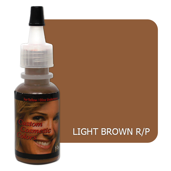 barwnik domakijażu permanentnego brwi jasno brązowy doskóry czerwonej iróżowej