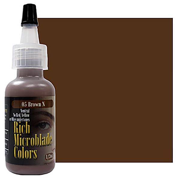 pigment domicrobladingu naturalny brązowy wbutelce płynny z usa