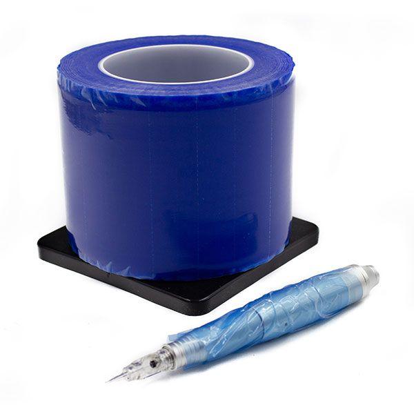 niebieska samoprzylepna folia domakijażu permanentnego narolce