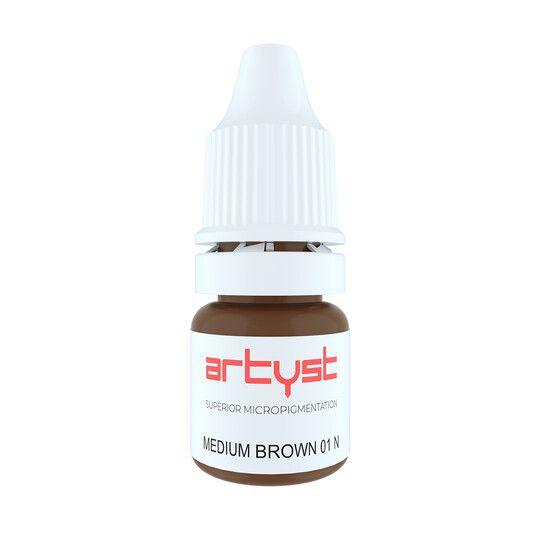 średni brąz neutralny pigment domakijażu permanentnego brwi