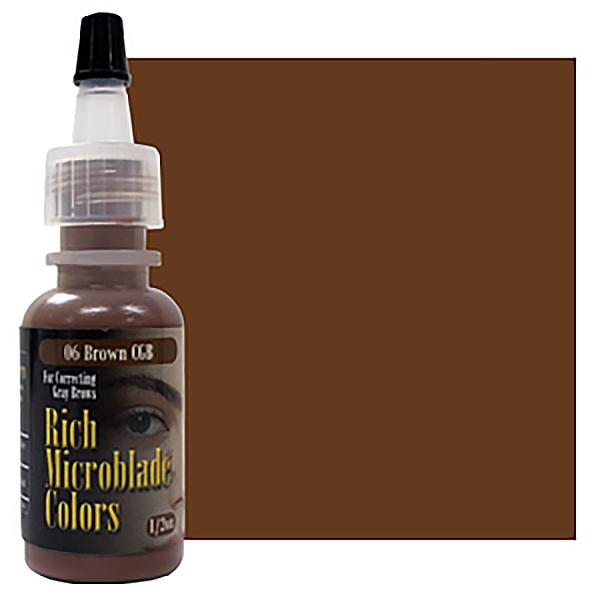 pigment domicrobladingu wbutelce korygujący szare brwi