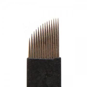 nożyk BLACK 14F dometody piórkowej, igła domakijażu permanentnego