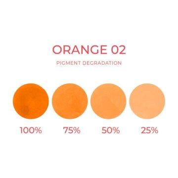 pigment dokorekty makijażu permanentnego pomatańczowy