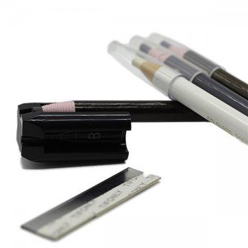 zestaw czarna temperówka, nożyk doostrzenia ikredki samozbierające