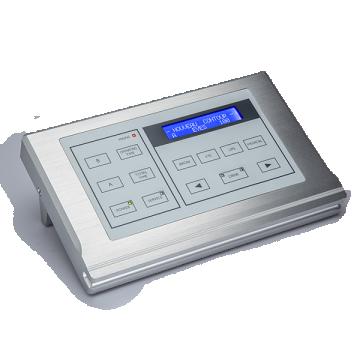 srebrny prostokątny panel sterujący urządzenia domakijażu permanentnego