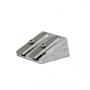 srebrna podwójna temperówka z metalu