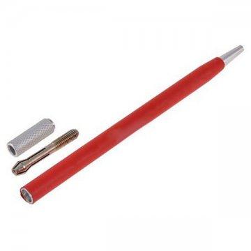 popularne, czerwone piórko dometody piórkowej skłądające siez części dorozkręcenia