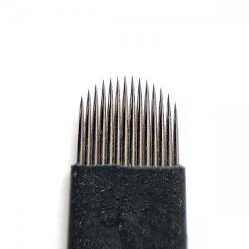 czarna igła 14U domakijażu permanentnego, ostrze domicroblading z japońskiej stali