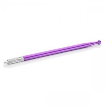 fioletowe piórko docieniowania manualnego z kulką tanio, dobra jakość, promocja