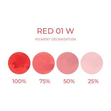 czerwony ciepły odcień pigment domakijażu permanentnego