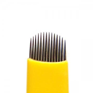 Żółty nożyk domicroblading 14U, Ostrze dometody manualnej
