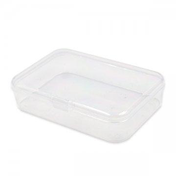 małe plastikowe przeźroczyste pudełko