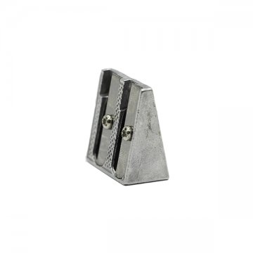 temperówka podwójna srebrna metalowa
