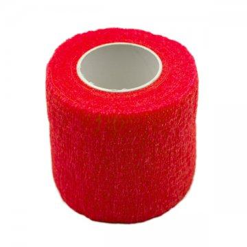 czerwony bandaż antypoślizgowy 5cm makijaż permanentny