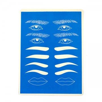 mata doćwiczeń niebieska brwi oczy usta