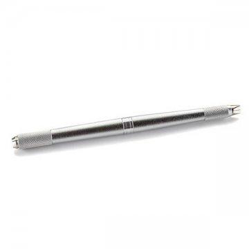 pen domicorblading, piórko domicroshading, rozkręcany pen dometody piórkowej, srebrny