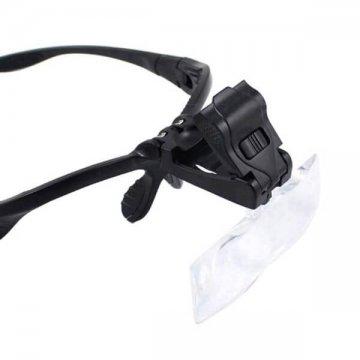 okulary led czarne domikropigmentacji