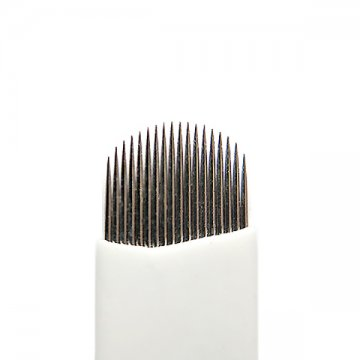 Nożyk domakijażu permanentnego 18U FLEX, Igła dometody piórkowej