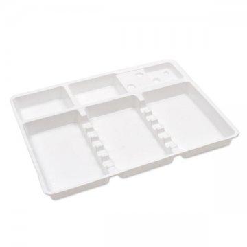 biała plastikowa tacka jednorazowa
