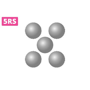moduł domikropigmentacji okrągły 5RS wprzezroczystej obudowie docieniowania