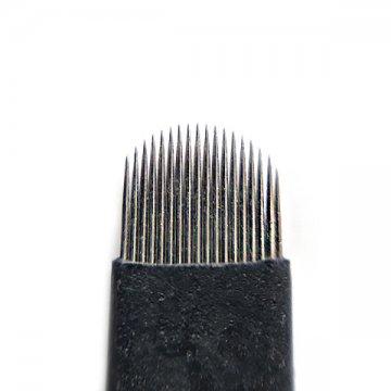 czarny nożyk 18U domakijażu permanentnego, ostrze z japońskiej stali, bardzo ostre