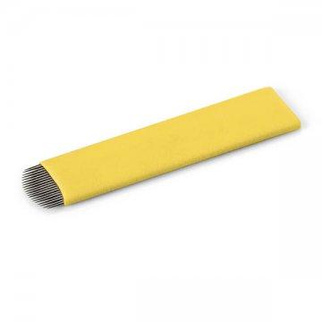 płaskie ostrze domicroblading, żółte, flat 18U