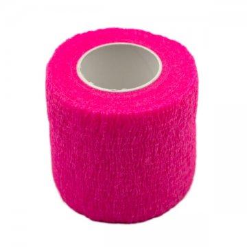 szeroki różowy bandaż naurządzenie domakijażu permanentnego