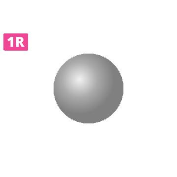 końcówka kartridża 1r round liner, kartridż z okrągłą igłą